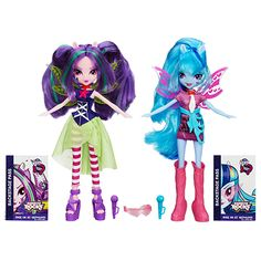 My Little Pony Equestria Girls Rainbow Rocks Aria Blaze and Sonata Dusk Doll 2-Pack