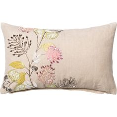 Toss this beautiful hand-beaded pillow on a colorful arm chair for a look that's bright and inviting, or add it to crisp bedding for a splash of springtime i...