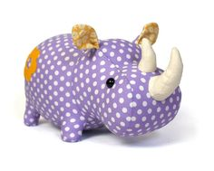 Looking for your next project? You're going to love rhino plush sewing pattern by designer DIY Fluffies.