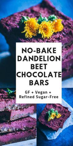 No Bake Dandelion Beet Chocolate Bars (Vegan, Gluten-Free) — MOON and spoon and yum