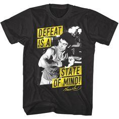 c86b921c9b0 Details about Bruce Lee Defeat is a State of Mind Signature Autograph Men s  T Shirt Top Legend