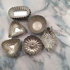 Lot Of 16 Vintage Metal Mini Tart Jello Candy Molds Pans Tins