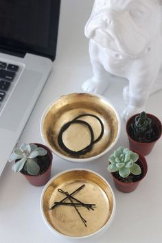 DIY Gold Leaf Bowls   Why Don't You Make Me