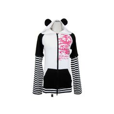 Doodle Panda Parker | Parker | PUTUMAYO Gothic Shop ❤ liked on Polyvore featuring outerwear, coats, hoodies, hoodies/jackets, jackets, panda, sweatshirts, goth coat and gothic coat