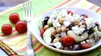 Greek Garbanzo Bean Salad  Greek Garbanzo Bean Salad–tips were to try creamy italian, increase feta, serve over leafy greens, best day it's made. Found in my allrecipes magazine           (adsbygoogle = window.adsbygoogle || []).push({});    This Picture  by  sassysue1   The Recipe can be found  HERE  			  I do not take credit for this salad recipe or images in this post. What I do accept and recognize is that I found something and brought it you.   Cooking is an expression..