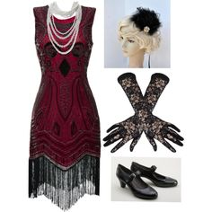 So lovely flapper headband from BlueSkyHorizons 20s Flapper by amanda-o-twomey on Polyvore featuring moda, Aerosoles and Black