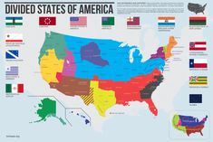 These Divided States.. THE UNTHINKABLE HAS HAPPENED These United States, has balkanized beyond recognition.Either by some circumstance, by war, disagreement, or peaceful means, new national&n...