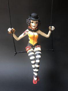 Haunted Circus, Bull Terrier, Art Gallery, Wonder Woman, Superhero, Ceramics, Sculptures, Sculpture Ideas, Cute