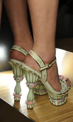 a garden party for your feet.    i would fabricate occasions to wear these. like, for example, cooking dinner?