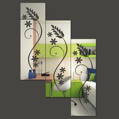 Produto: Espelho Decorativo em Acrílico Quadrados Florais