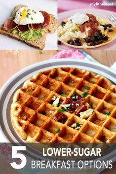These healthy breakfast recipes are perfect for those trying to cut back on sugar! #myfitnesspal