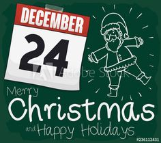 Santa's Doodle on Chalkboard with Calendar and Reminder for Christmas, Vector Illustration - Buy this stock vector and explore similar vectors at Adobe Stock Christmas Illustration, Chalkboard, Merry Christmas, Calendar, Doodles, Santa, Merry Little Christmas, Chalkboards, Wish You Merry Christmas