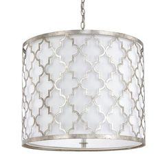 Ellis Antique Silver Five Light Pendant Capital Lighting Fixture Company Drum Pendant Ligh