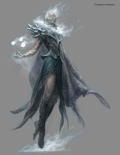 """Goddess of wind and snow tabletop-rpgs: """" Cloud Giant, Baroness Sansuri by Chris Rahn Concept art for Dungeons and Dragons """" High Fantasy, Fantasy Rpg, Medieval Fantasy, Fantasy Artwork, Fantasy Character Design, Character Art, Fantasy Inspiration, Character Inspiration, Cloud Giant"""