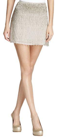 3dad1ccf124 Alice + Olivia Anna Beaded Fringe Mini Skirt. Free shipping and guaranteed  authenticity on Alice. Tradesy