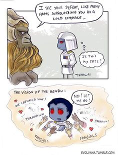 "evolvana: ""Because the Bendu's vision made me laugh in a way, I couldn't help imagining Thrawn chased by fans trying to catch him for a hug. That's your fate, Thrawn, if you ever meet your fans :p """