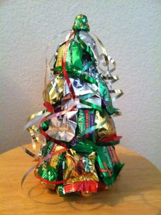 sugar free Christmas tree - great little gift that is fun to make for friends, neighbors and co-workers Small Christmas Gifts, Christmas Favors, Office Christmas, Homemade Christmas Gifts, Christmas Goodies, Christmas Candy, Christmas Treats, Christmas Stuff, Homemade Gifts
