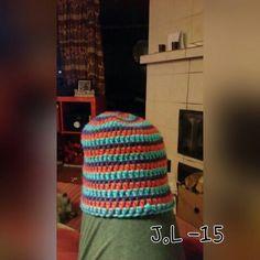Pipo. Virkattu. Lankana 7veljestä kaksinkertoin. Crochet beanie.