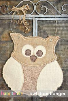 Hang to Dry Applique - Owl Door Hanger, $5.99 (http://www.hangtodryapplique.com/owl-door-hanger/)