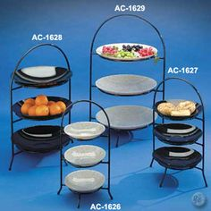 Three tier black iron dessert stands maximixe your display space without taking up a lot of table space. & Wrought Iron 3 Tier Pie/Plate Holder - I want one for the tea table ...