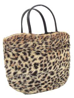 Just Added - Authentic vintage 1960s Faux Leopard Tote Bag Purse #60sfashion #vintagepurses #vintagebags #bluevelvetvintage