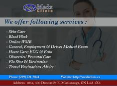 Medx Clinic Offers You Numbers Of Services To Make You Safe & Healthy. Call: 289-521-8844 Or Call: 289-521-8845 #Doctor #Health #Care #Clinic #Recovery #GoodHealth #GoodWealth