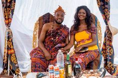 Wedding Pictures of a Cameroonian Beauty Vlogger African Traditional Wedding Dress, Traditional Wedding Decor, African Wedding Dress, Traditional Outfits, African Weddings, 2 Piece Homecoming Dresses, Ball Gowns Prom, Beautiful Prom Dresses, Africa Fashion