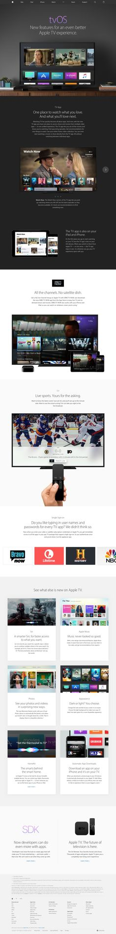 tvOS - Apple - One place to watch what you love