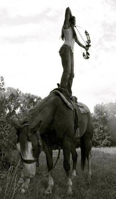 Horseback Archery. Savage. Can't wait to get Niner back! ....   well trained horse there