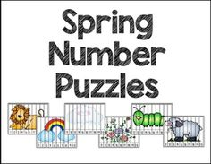 """FREE MATH LESSON - """"Spring-Time Number Puzzles 1-10 & 11-20"""" - Go to The Best of Teacher Entrepreneurs for this and hundreds of free lessons. Pre-Kindergarten - Kindergarten  #FreeLesson  #Math   http://www.thebestofteacherentrepreneurs.org/2016/02/free-math-lesson-spring-time-number.html"""