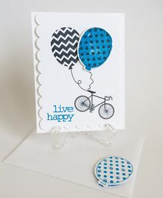 Live Happy Card by CraftsByKesh on Etsy
