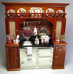 Rooster Aga stove display