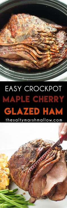 Crockpot ham with glaze