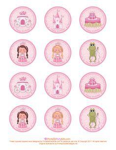 Free Printable Princess Birthday Cupcake Toppers | Printable Party Kits