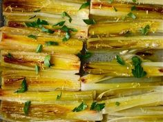 My favorite way to cook leeks as the main ingredient in a dish is to braise them. They retain their subtly aroma but acquire a completely tender, almost meaty texture as they slowly break down and absorb liquid.