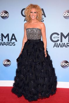 Loved Little Big Town's Kimberly Schlapman's dress at the 2013 CMA Awards