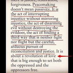Blessed are the peacemakers...