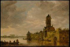 Jan van Goyen (b. 13 Jan 1596)   Castle by a River   The Metropolitan Museum of Art