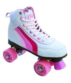 SFR Rio Roller Quad Skate - White & Pink