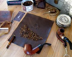 This is the Dapper Dan Tobacco Mat. It is a neat, elegant way to fill your pipe, roll your own cigarettes, or blend your own tobacco, without