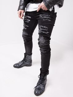 Superenge Jeans, Ripped Jean Shorts, Patched Jeans, Ripped Skinny Jeans, Sport Fashion, Mens Fashion, Camouflage Jeans, Repair Jeans, Striped Jeans