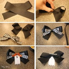 DIY ghost ribbon bow...complete tutorial. by Isabel Cardoso