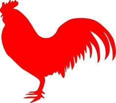 Rooster silhouette http://www.birdclipart.com/bird_clipart_images/farm_animal_a_red_roosters_silhouette_0071-1002-1400-1749.html