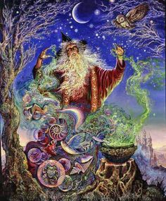 """Ascended Master Merlin -Love and LIght -------------------------------------------------------   """" Merlins Magic"""" by Josephine Wall fantasy art"""