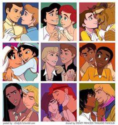 Gender swap disney couples