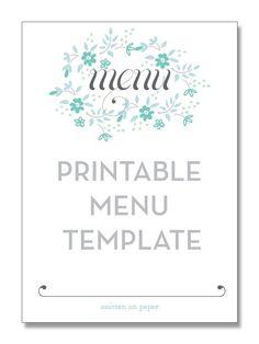 menu printable - wou