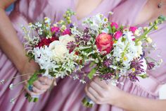Photography-by-Elisha-Clarke---Bridesmaids-with-Pretty-Summer-Bouquets - Read more on One Fab Day: http://onefabday.com/donegal-wedding-elisha-clarke/