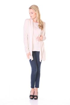 Pants and shoes aside - I love this cream colored cardigan