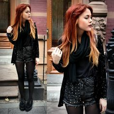 omg i love her hair!  I may just have to go red again!@Brittany Irving more ombre