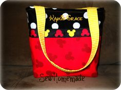 Little Girls Purse Small Childs Handbag PERSONALIZED MICKEY SILHOUETTE Handmade Mini Tote Bag by SewHomemade on Etsy. $15.00, via Etsy.